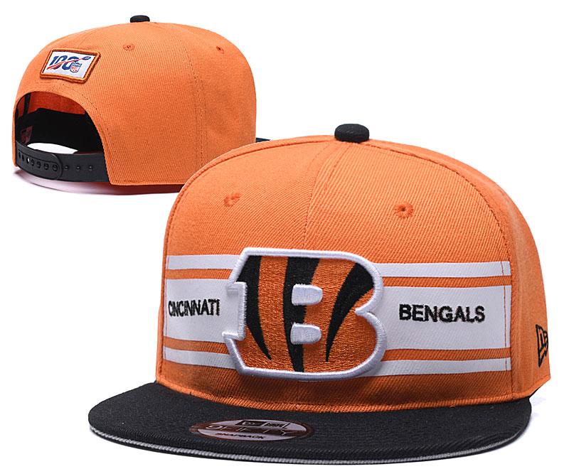 Bengals Team Logo Black 100th Season Adjustable Hat YD