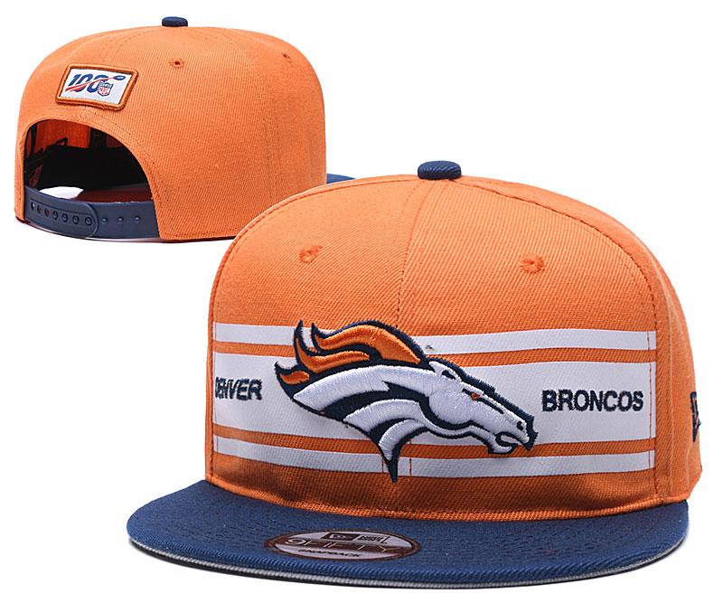 Broncos Team Logo Orange 100th Season Adjustable Hat YD