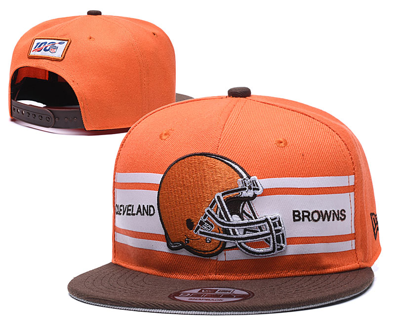 Browns Team Logo Orange 100th Season Adjustable Hat YD