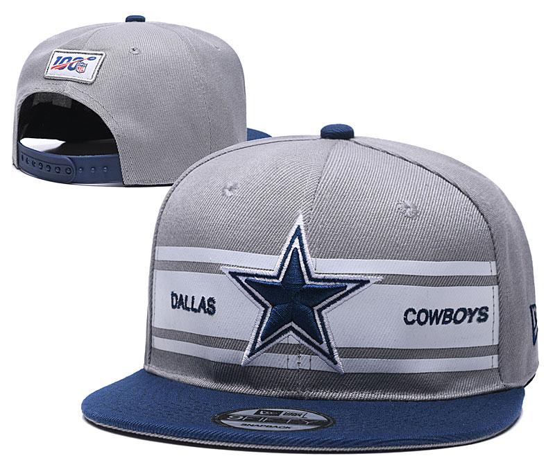 Cowboys Team Logo Gray 100th Season Adjustable Hat YD