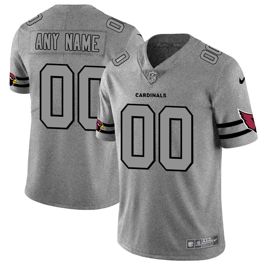 Nike Cardinals Customized 2019 Gray Gridiron Gray Vapor Untouchable Limited Jersey