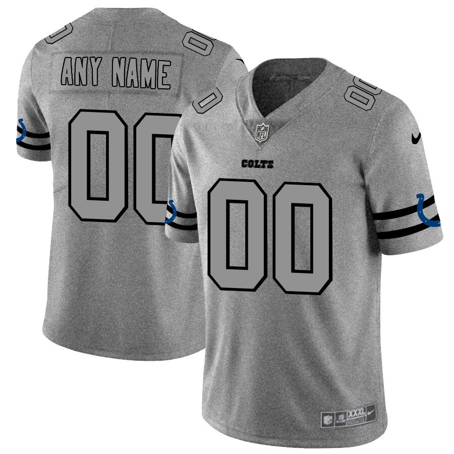Nike Colts Customized 2019 Gray Gridiron Gray Vapor Untouchable Limited Jersey