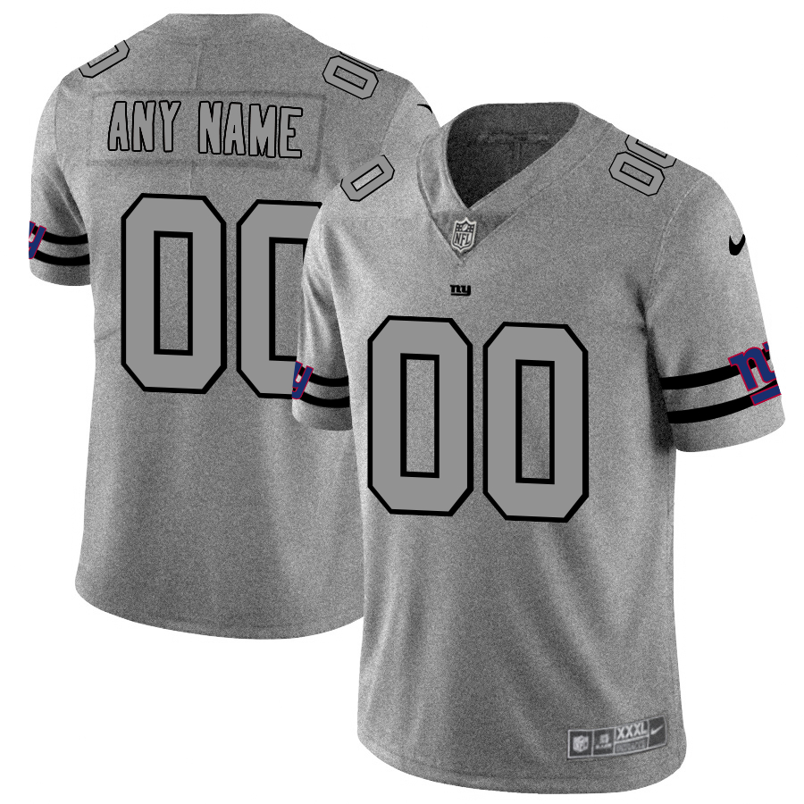 Nike Giants Customized 2019 Gray Gridiron Gray Vapor Untouchable Limited Jersey