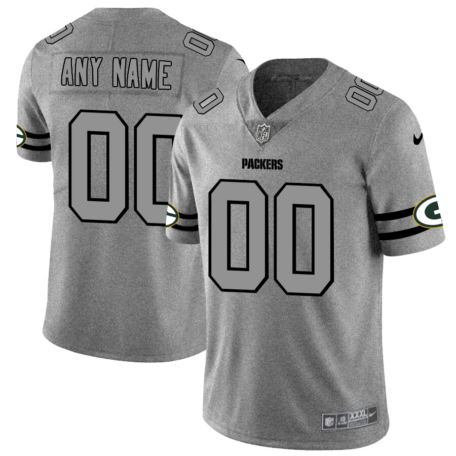 Nike Packers Customized 2019 Gray Gridiron Gray Vapor Untouchable Limited Jersey