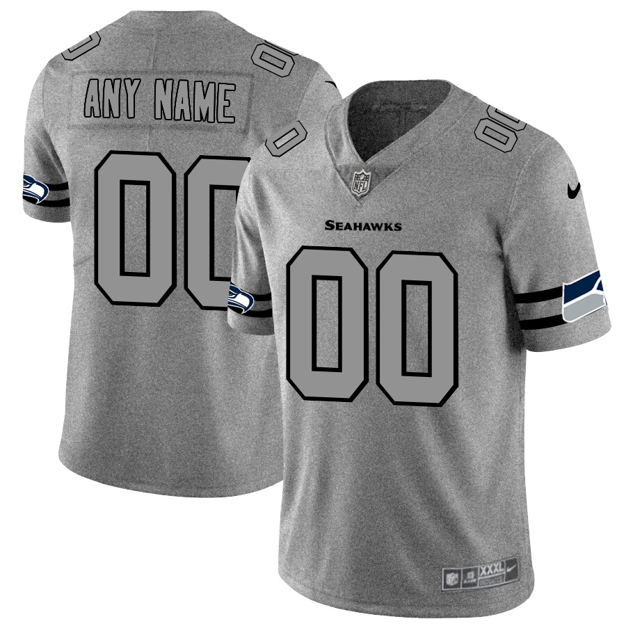 Nike Seahawks Customized 2019 Gray Gridiron Gray Vapor Untouchable Limited Jersey