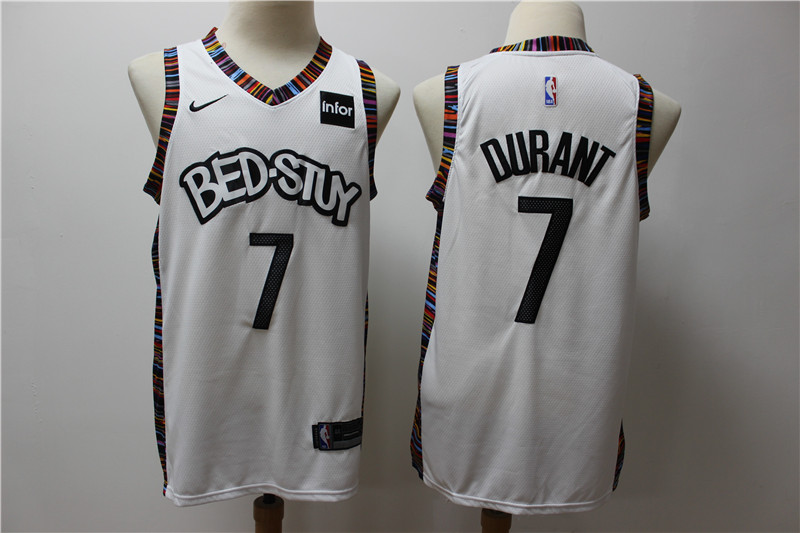 Nets 7 Kevin Durant White 2019-20 City Edition Nike Swingman Jersey