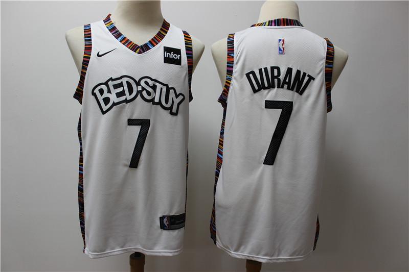Nets 7 Kevin Durant White 2019-20 City Edition Nike Swingman Jersey