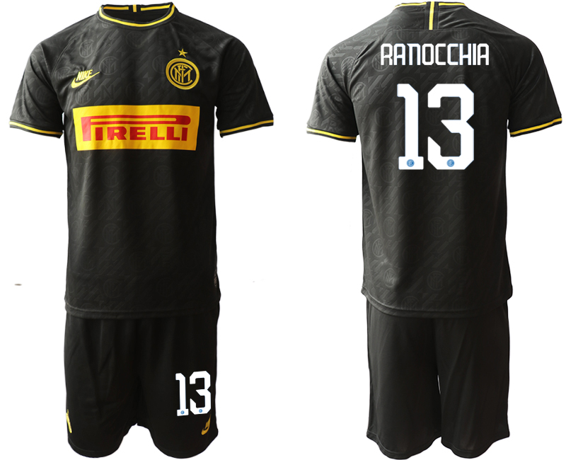 2019-20 Inter Milan 13 RANOCCHIA Third Away Soccer Jersey
