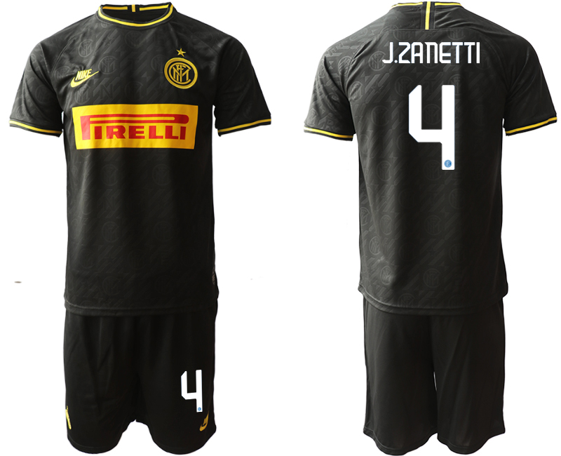 2019-20 Inter Milan 4 J.ZANETTI Third Away Soccer Jersey