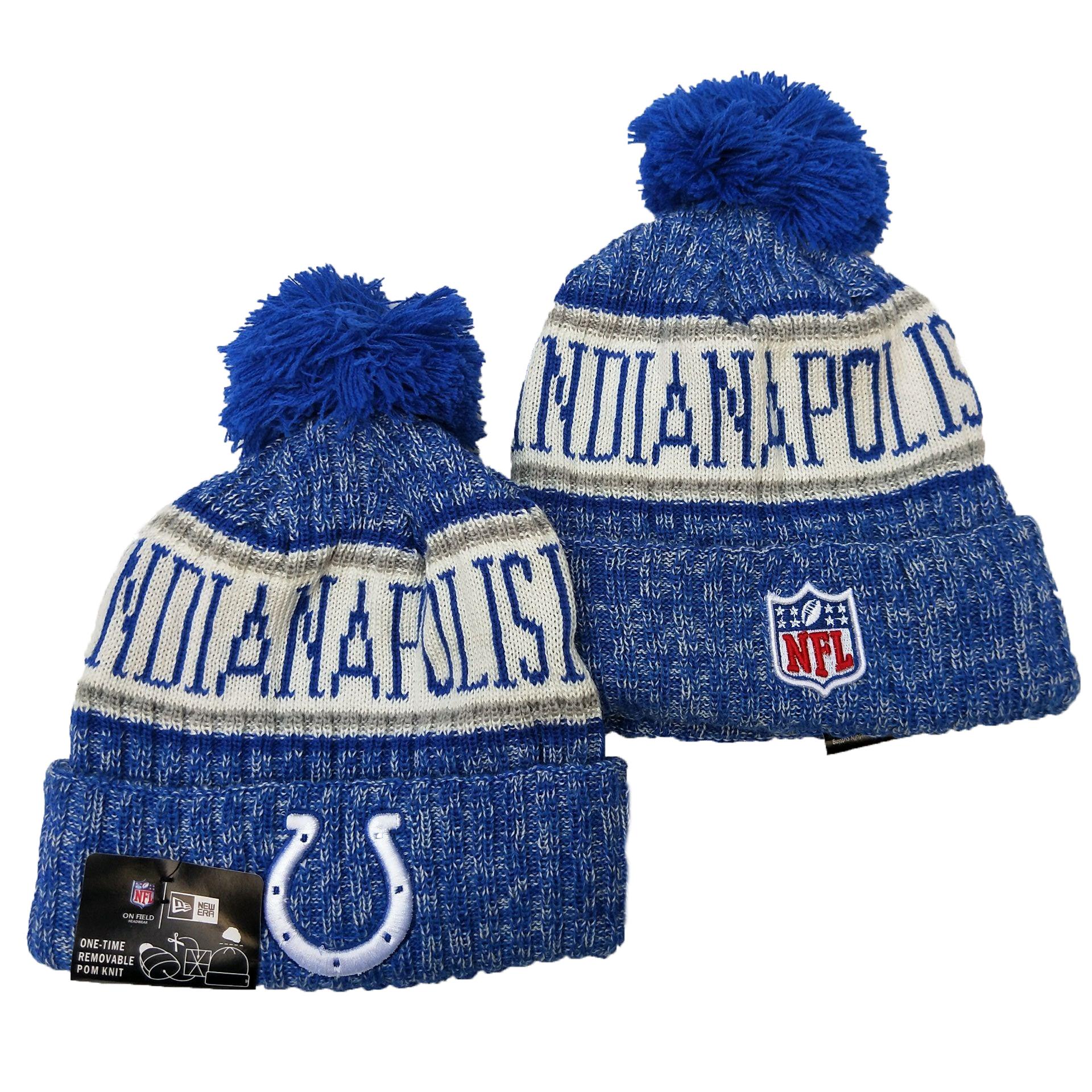 Colts Team Logo Royal Pom Knit Hat YD