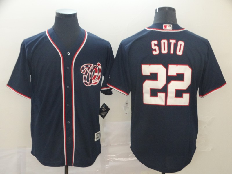 Nationals 22 Juan Soto Navy Cool Base Jersey