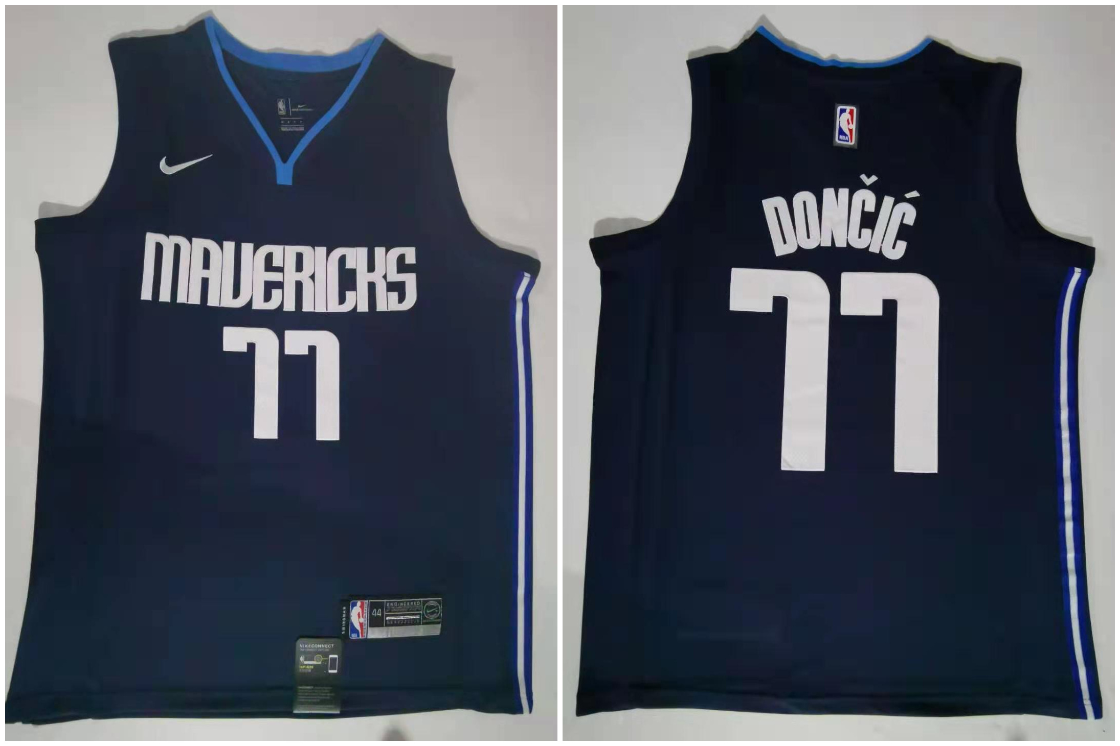 Mavericks 77 Luka Doncic Navy Nike Swingman Jersey