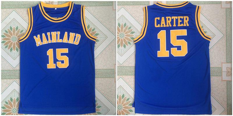 Mainland High School 15 Vince Carter Blue Basketball Jersey