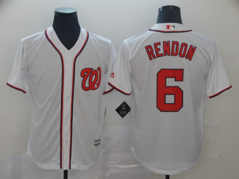 Nationals 6 Anthony Rendon White Cool Base Jersey