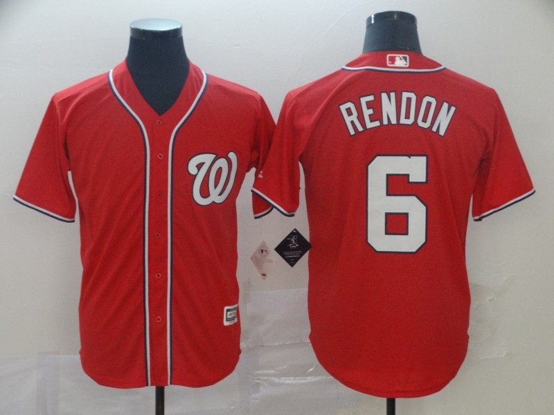 Nationals 6 Anthony Rendon Red Cool Base Jersey