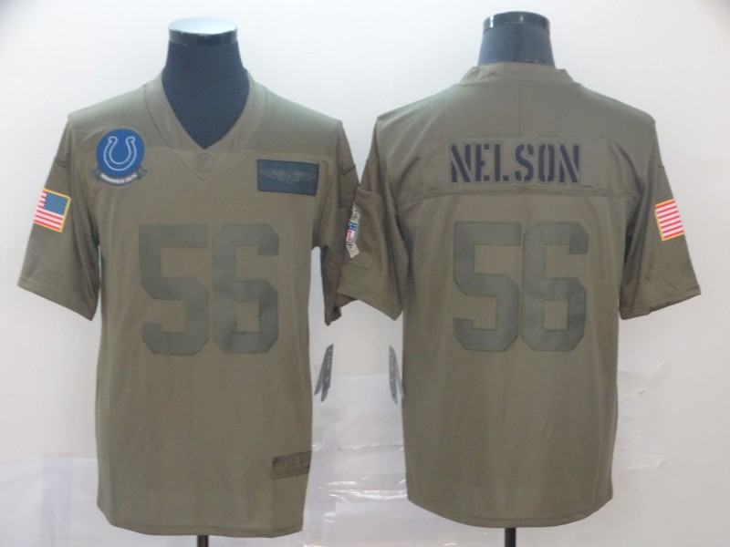 Nike Colts 56 Quenton Nelson 2019 Olive Salute To Service Limited Jersey