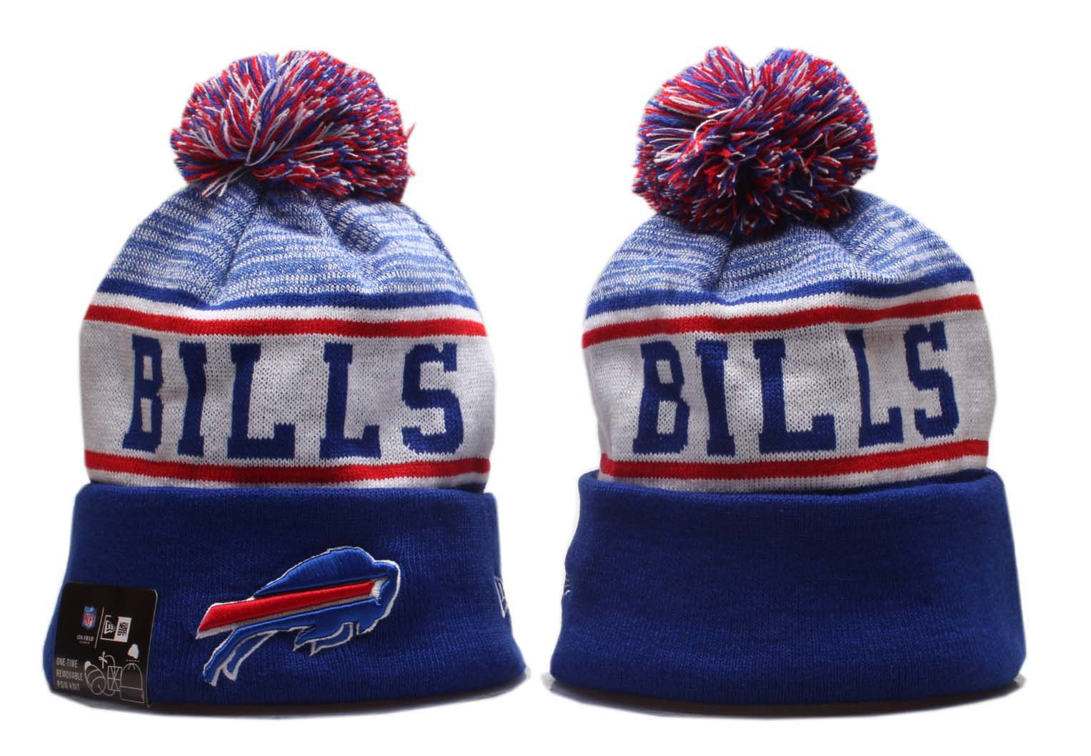 Bills Team Logo Royal Pom Knit Hat YP