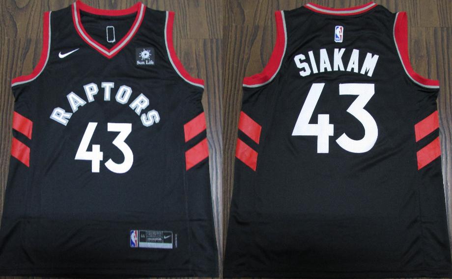 Raptors 43 Pascal Siakam Black Nike Swingman Jersey