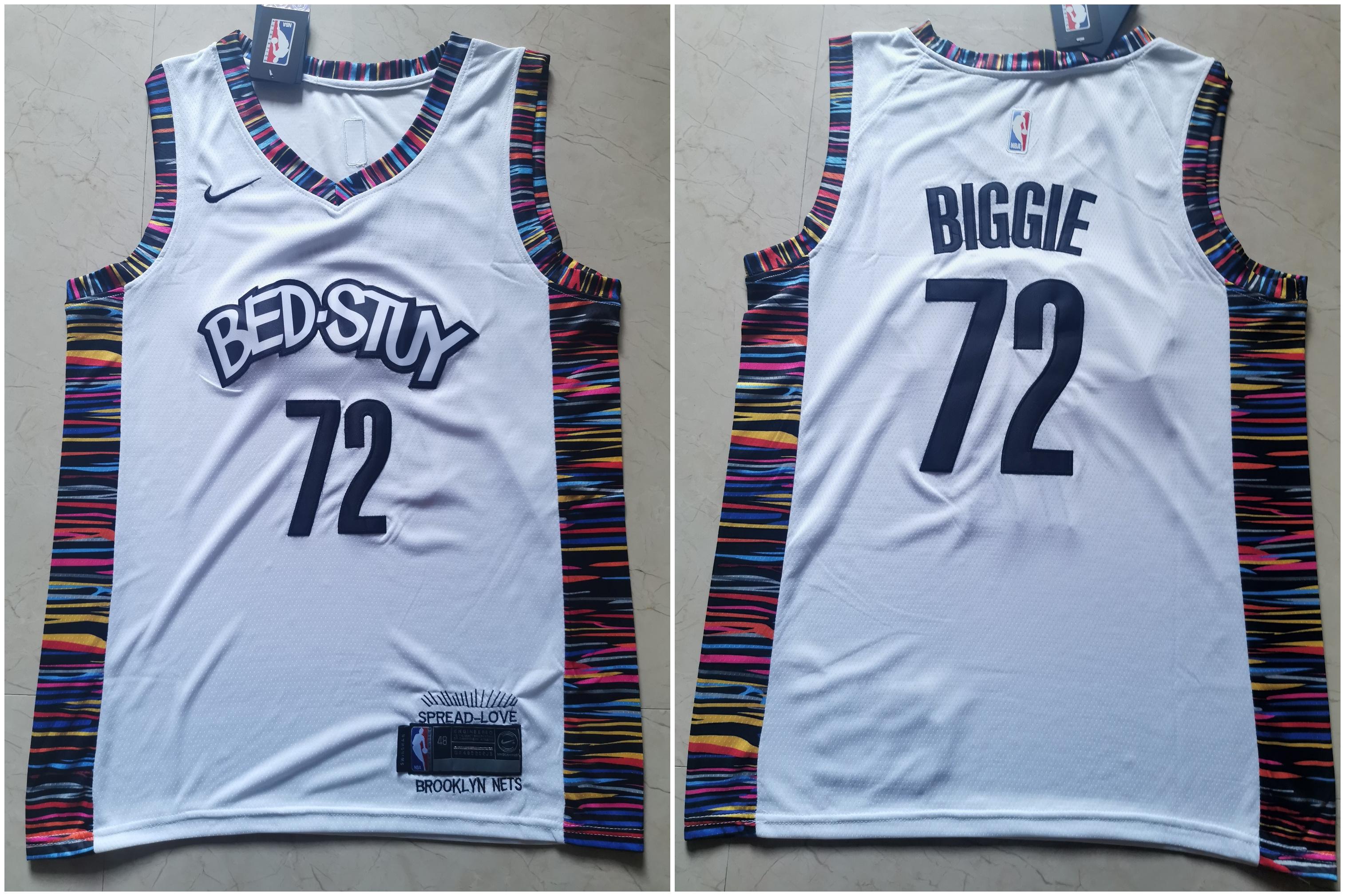 Nets 72 Biggie White 2019-20 City Edition Nike Swingman Jersey