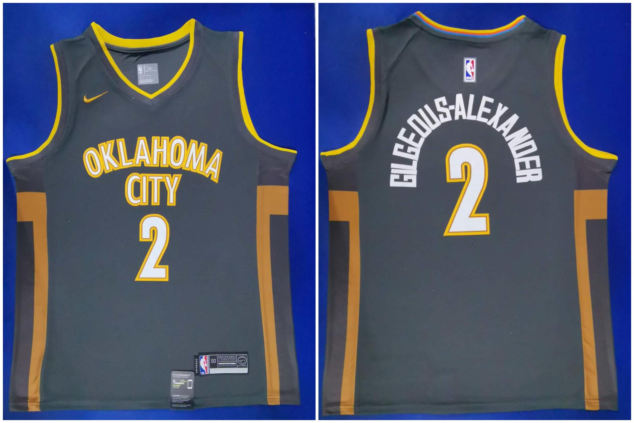 Thunder 2 Shai Gilgeous Alexander Black City Edition Nike Swingman Jersey