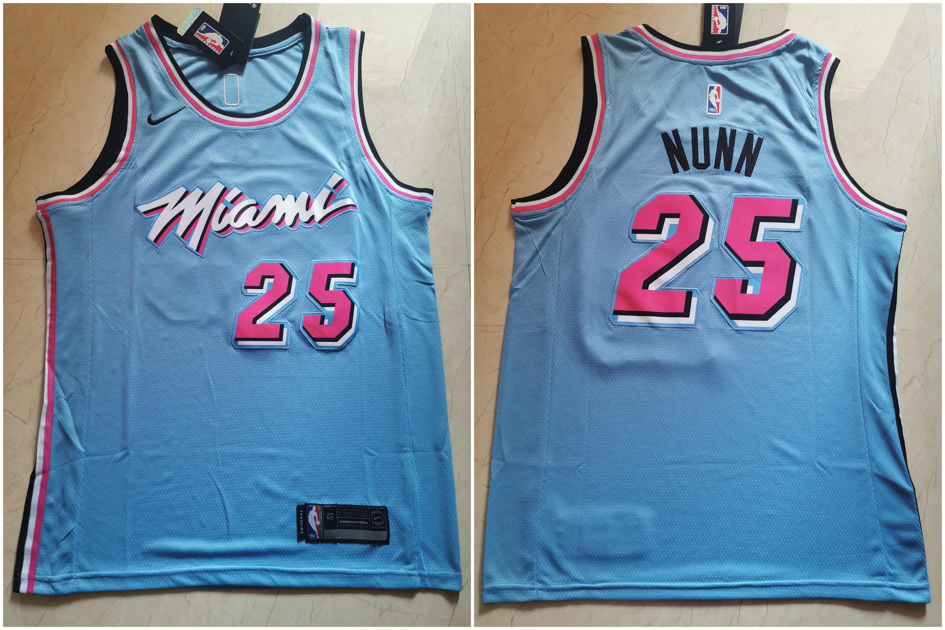 Heat 25 Kendrick Nunn Blue City Edition Nike Swingman Jersey