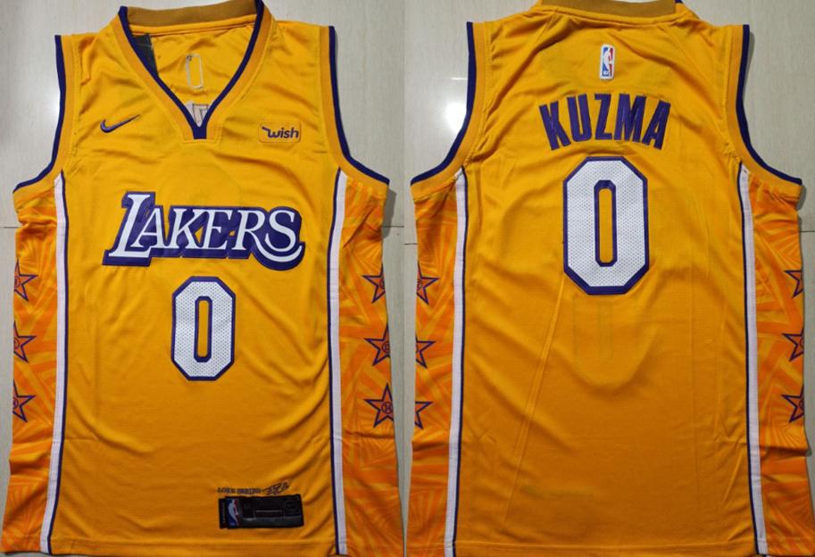 Lakers 0 Kyle Kuzma Yellow 2019-20 City Edition Nike Swingman Jersey