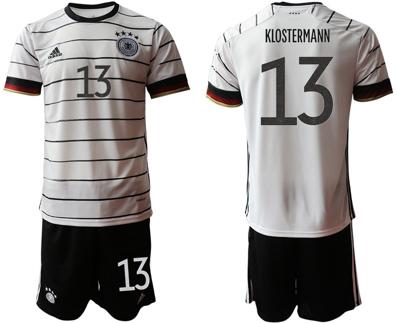 Germany 13 KLOSTERMANN Home UEFA Euro 2020 Soccer Jersey