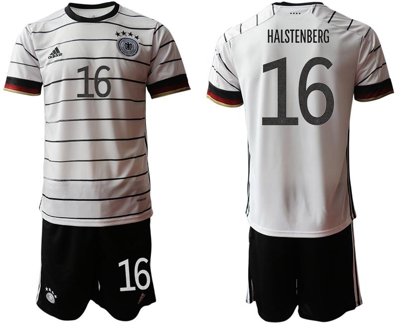 Germany 16 HALSTENBERG Home UEFA Euro 2020 Soccer Jersey