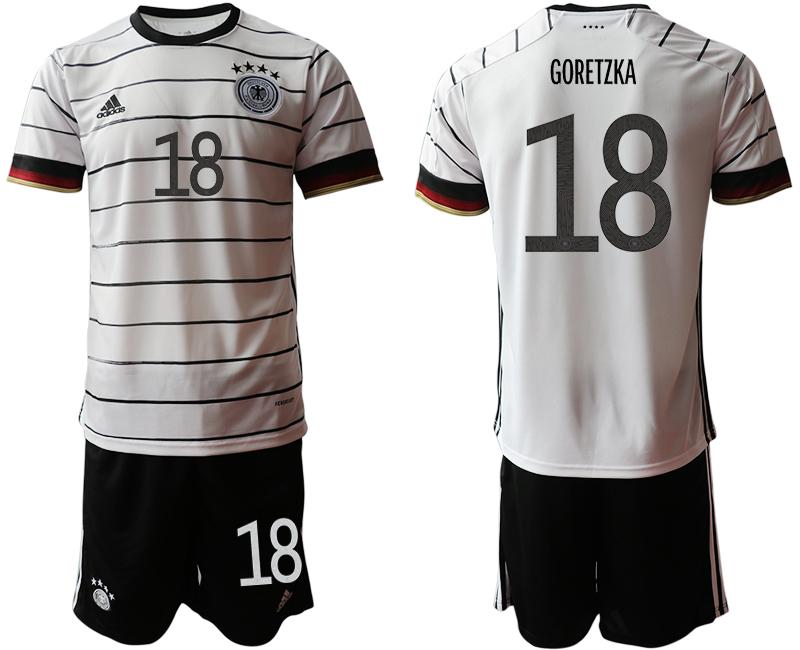Germany 18 GORETZKA Home UEFA Euro 2020 Soccer Jersey