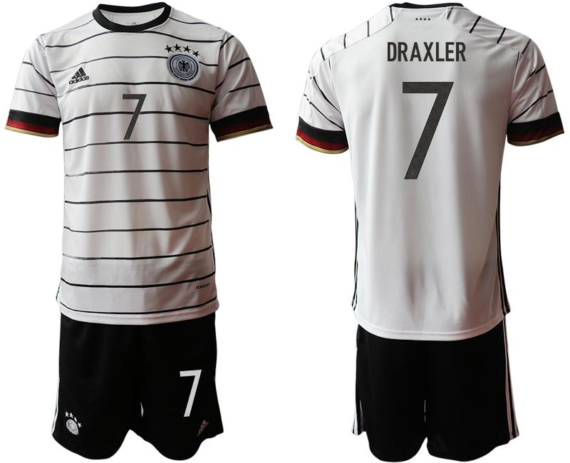 Germany 7 DRAXLER Home UEFA Euro 2020 Soccer Jersey
