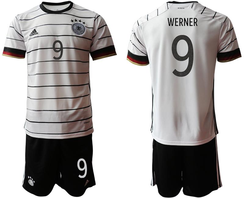 Germany 9 WERNER Home UEFA Euro 2020 Soccer Jersey