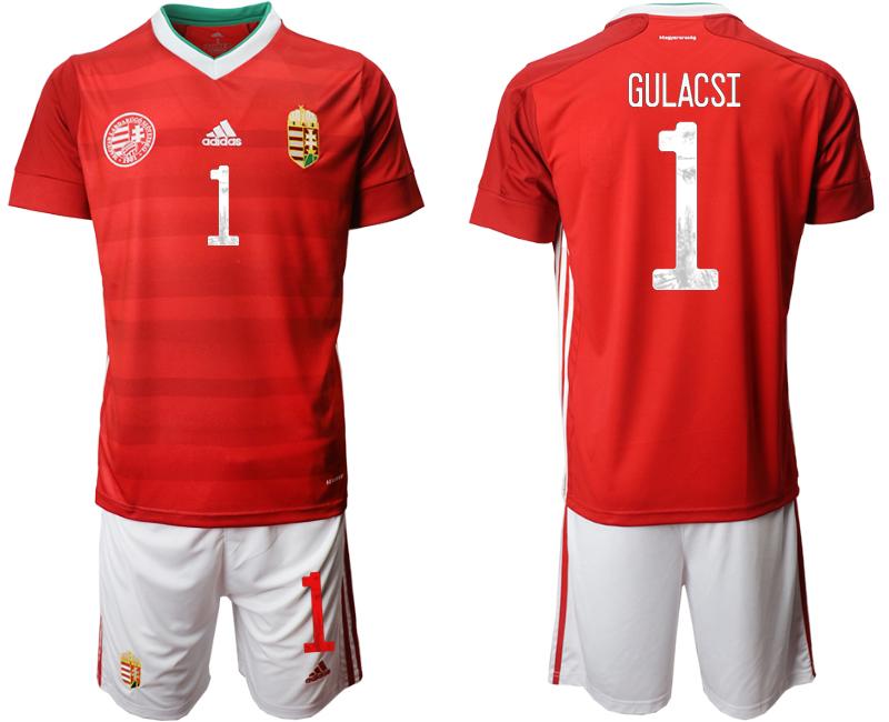 Hungary 1 GULACSI Home UEFA Euro 2020 Soccer Jersey