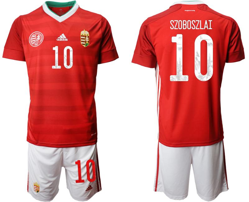 Hungary 10 SZOBOSZLAI Home UEFA Euro 2020 Soccer Jersey