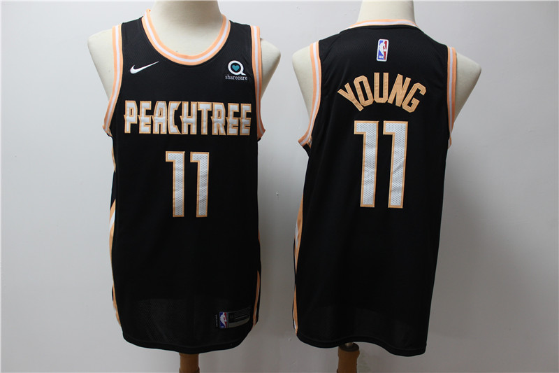 Hawks 11 Trae Young Black 2019-20 Nike City Edition Swingman Jersey