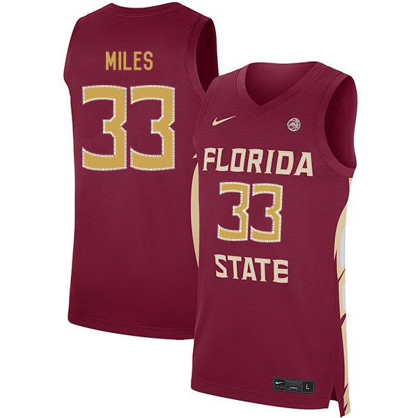 Florida State Seminoles 33 Will Miles Red Nike Basketball College Jersey