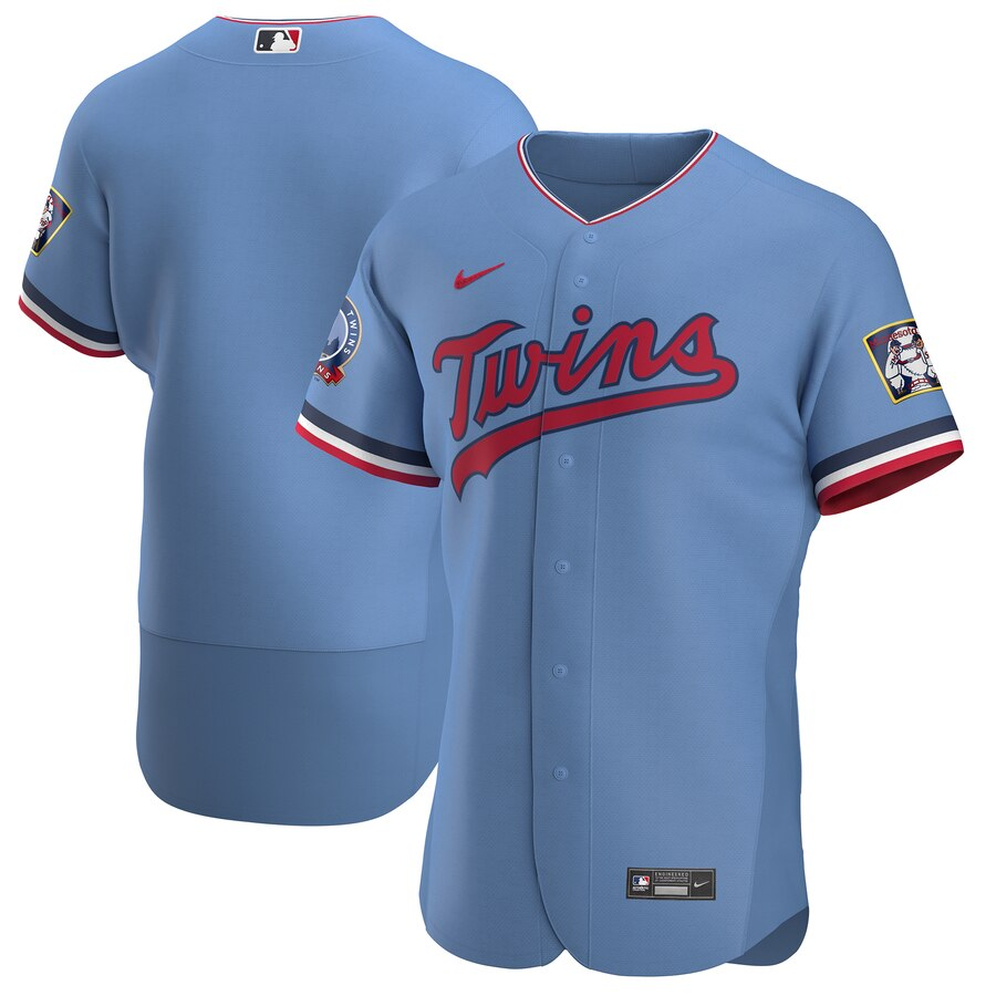 Twins Blank Red Blue 2020 Flexbase Jersey