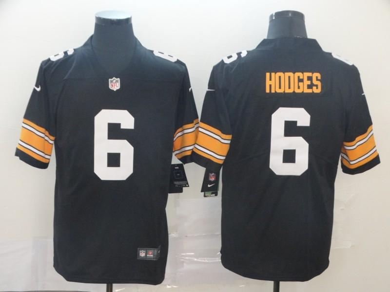 Nike Steelers 6 Devlin Hodges Black Alternate Vapor Untouchable Limited Jersey