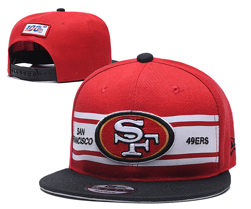 49ers Team Logo Red 100th Seanson Adjustable Hat YD