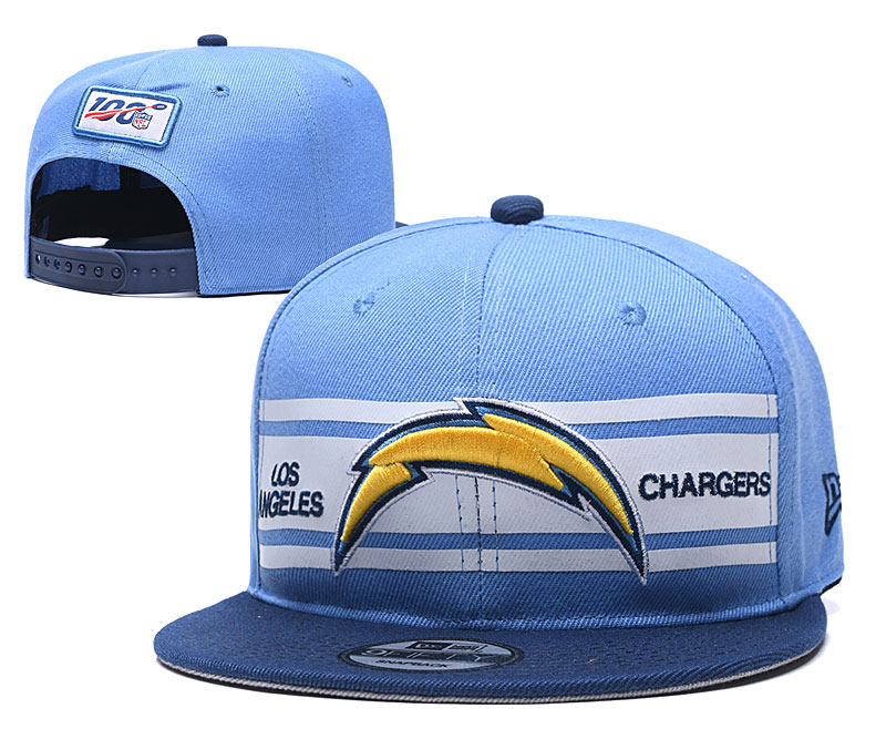 Chargers Team Logo Blue 100th Seanson Adjustable Hat YD