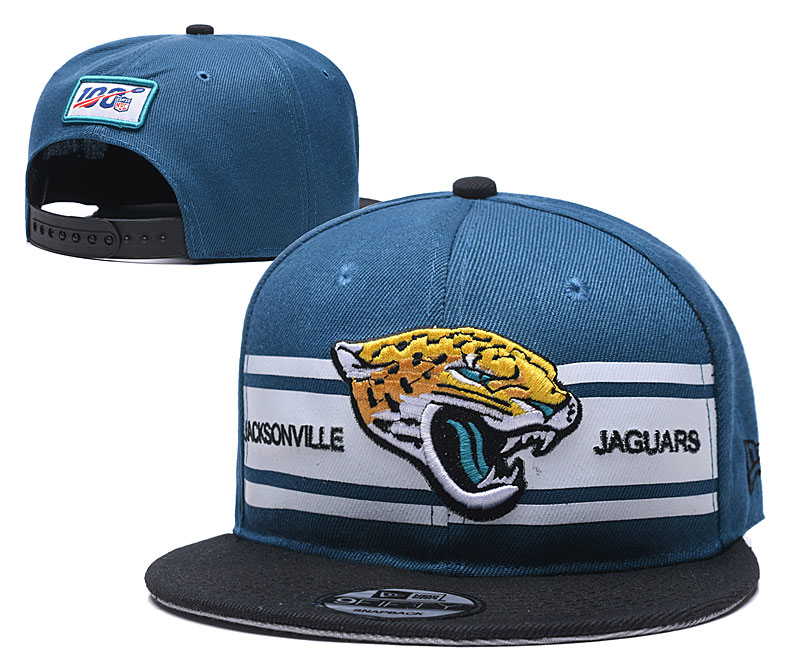 Jaguars Team Logo Blue 100th Seanson Adjustable Hat YD