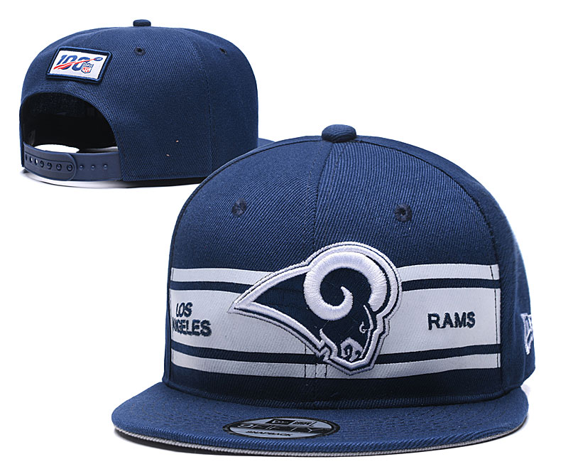 Rams Team Logo Navy 100th Seanson Adjustable Hat YD