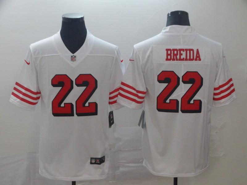 Nike 49ers 22 Matt Breida White Color Rush Vapor Untouchable Limited Jersey