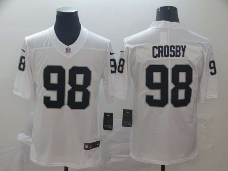 Nike Raiders 98 Maxx Crosby White Vapor Untouchable Limited Jersey