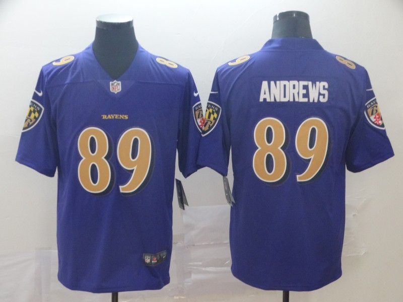 Nike Ravens 89 Mark Andrews Purple Color Rush Limited Jersey