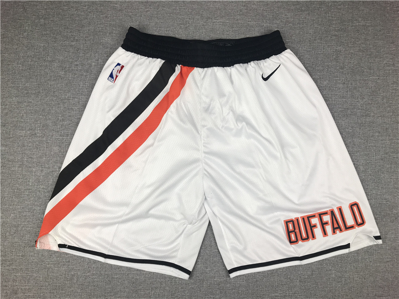 Clippers White Throwback Shorts