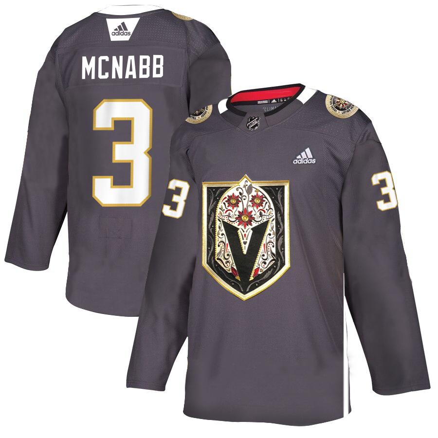 Vegas Golden Knights 3 Brayden McNabb Gray Dia De Los Muertos Adidas Jersey