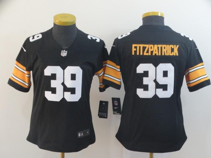 Nike Steelers 39 Minkah Fitzpatrick Black Alternate Women Vapor Untouchable Limited Jersey