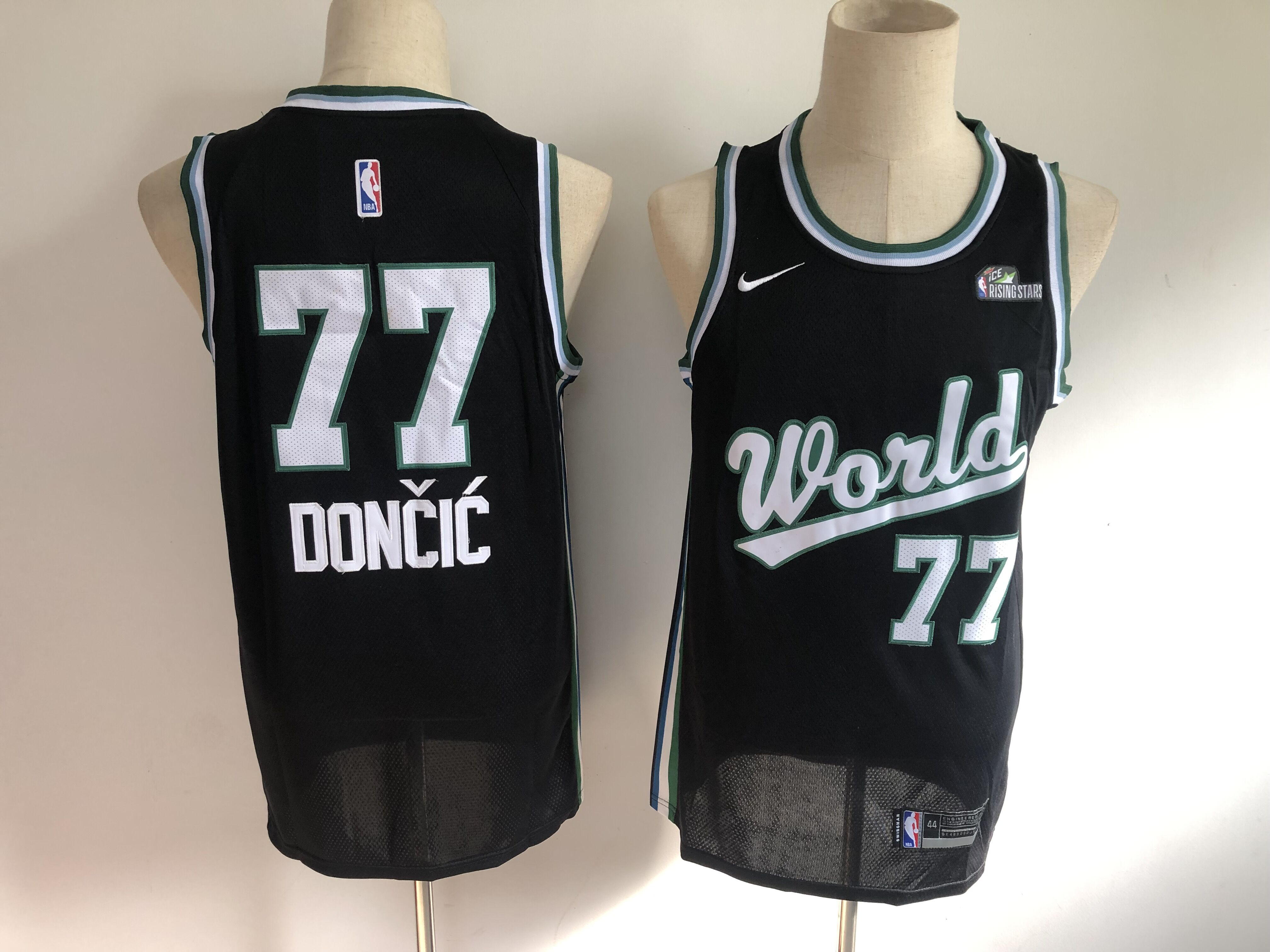 Mavericks 77 Luka Doncic Black NBA Draft Swingman Jersey