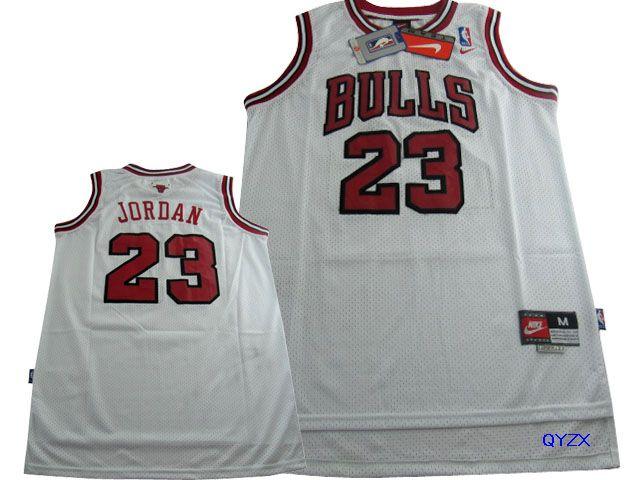 Bulls 23 Michael Jordan White Nike Swingman Jersey