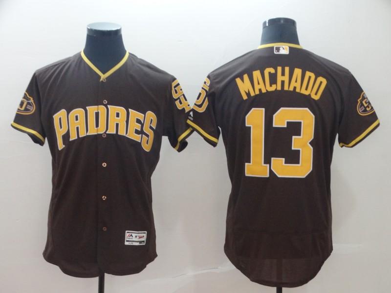 Padres 13 Manny Machado Brown Flexbase Jersey